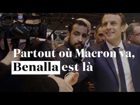 Toutes ces fois où Benalla était aux côtés de Macron
