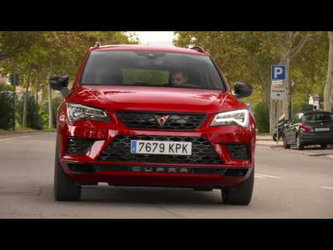 The new CUPRA Ateca Driving Video in Velvet Red