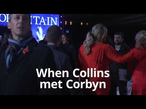 Gemma Collins and Jeremy Corbyn meet on Pride of Britain red carpet
