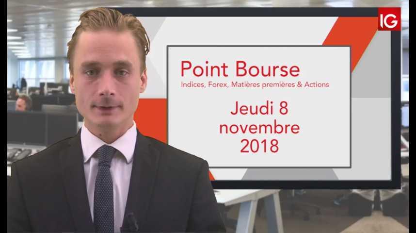 Illustration pour la vidéo Point Bourse IG du Jeudi 8 novembre 2018