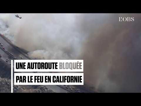 Chaos sur une autoroute californienne alors que l'incendie fait rage