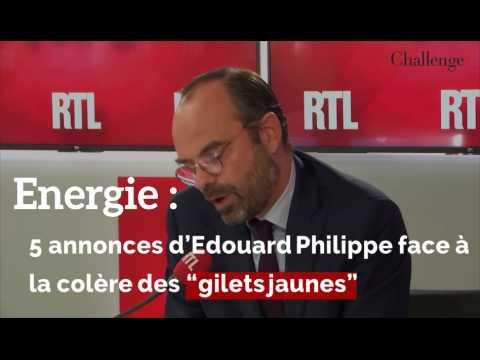 """5 annonces d'Edouard Philippe face à la colère des """"gilets jaunes"""""""