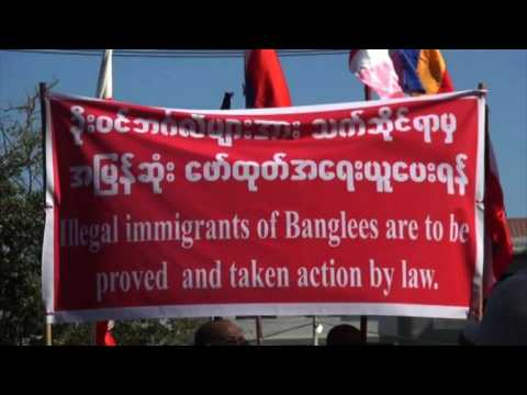 Protest in Myanmar's Rakhine state opposes Rohingya return