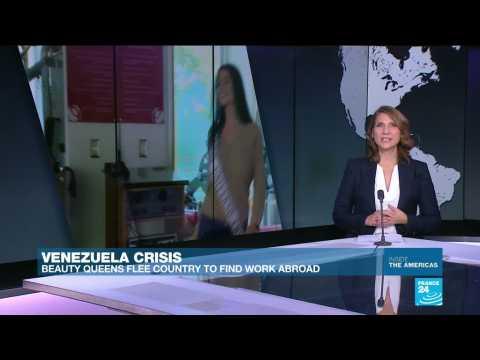 Beauty queens flee Venezuela to find work abroad