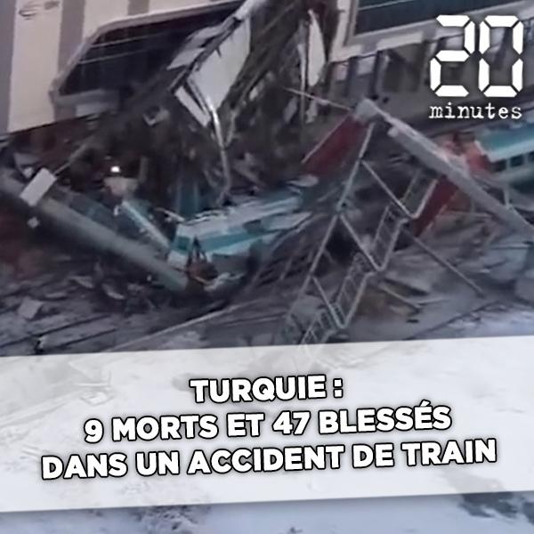 Turquie: 9 morts et 47 blessés dans un accident de train à Ankara