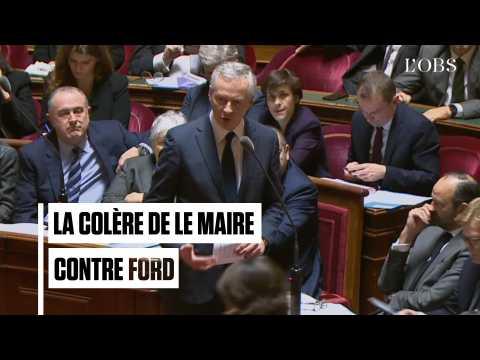 """Blanquefort : la colère de Le Maire contre la """"trahison"""" de Ford"""