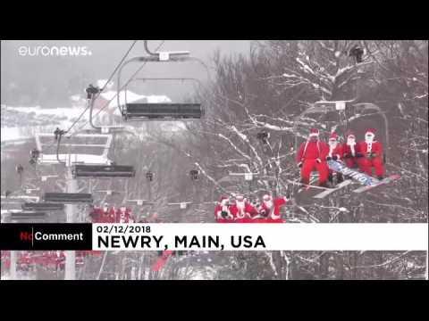 Hundreds of Santas hit the ski slopes for charity