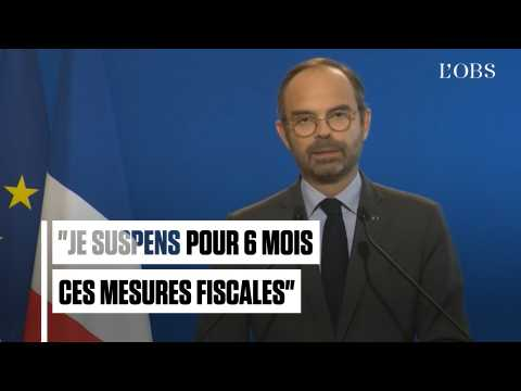 """Carburants, gaz, électricité... : Les annonces d'Edouard Philippe aux """"Gilets jaunes"""""""