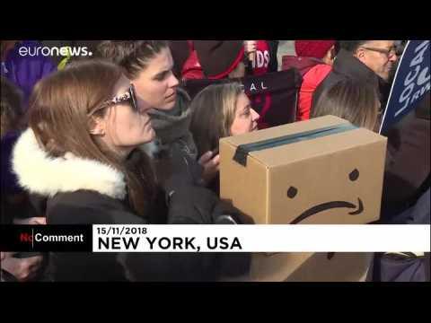 Des New-Yorkais manifestent contre l'implantation d'Amazon