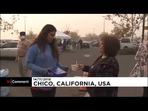 Incendies en Californie : des camps de fortune improvisés