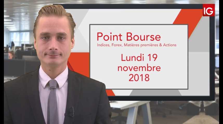 Illustration pour la vidéo Point Bourse IG du Lundi 19 novembre