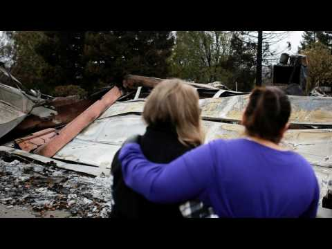 Some Paradise Resident Return To See Damage On Their Homes