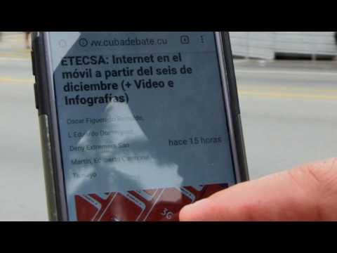 Internet arrive sur les téléphones portables à Cuba