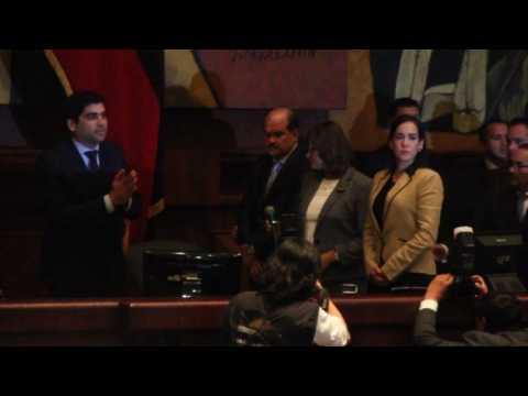 Otto Sonnenholzner takes oath as Ecuador new vice president