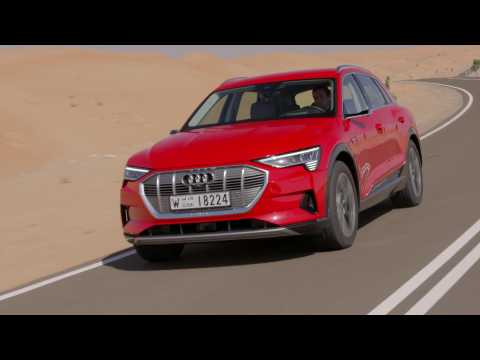 Audi e-tron in Catalunya Red Driving Video