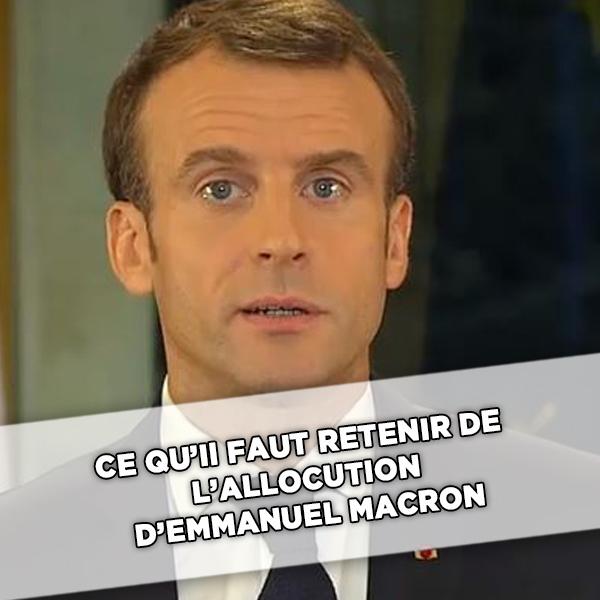 Hausse du SMIC, heures supplémentaires défiscalisées, vote blanc: ce qu'il faut retenir de l'allocution d'Emmanuel Macron