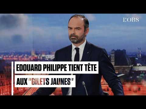 """Gilets jaunes"" : Edouard Philippe entend ""tenir le cap"""