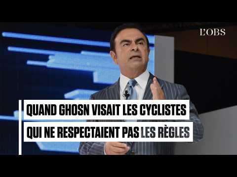 """Quand Carlos Ghosn raillait les cyclistes """"qui ne respectent pas les règles"""""""