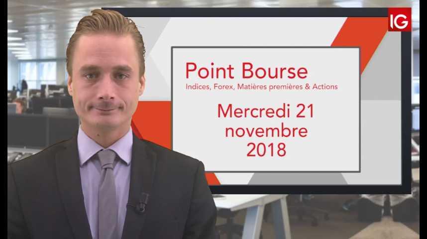 Illustration pour la vidéo Point Bourse IG du Mercredi 20 novembre