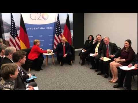 Trump and Merkel hold bilateral meeting at G20