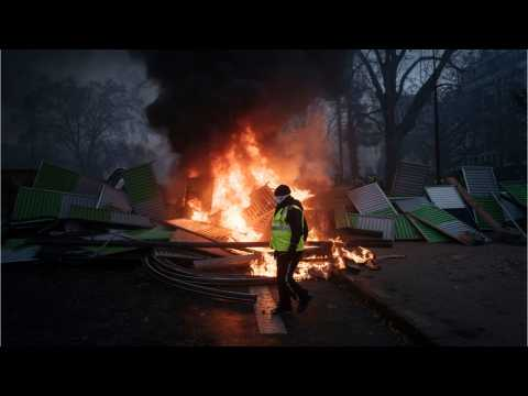 At Least 80 Injured As French Police Clash With Protesters In Paris Riot