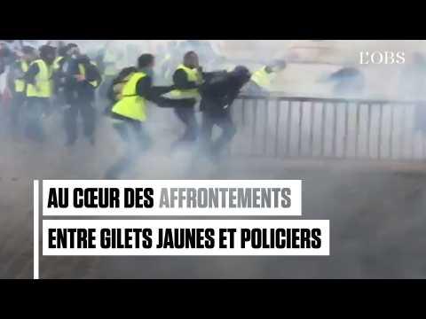 Au cœur des affrontements entre gilets jaunes et policiers sur la place de l'Etoile