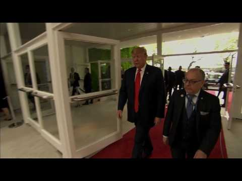 US President Donald Trump arrives for G20 summit meetings