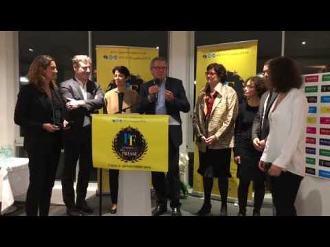 Remise Trophée de l'Innovation technologique Presse au Futur