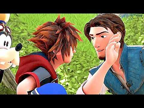 KINGDOM HEARTS 3: Tangled Gameplay Trailer (2019)