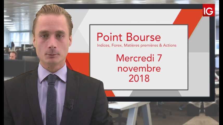 Illustration pour la vidéo Point Bourse IG du Mercredi 7 novembre