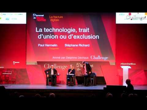 [SOMMET DE L'ECONOMIE] La technologie, trait d'union ou d'exclusion ?
