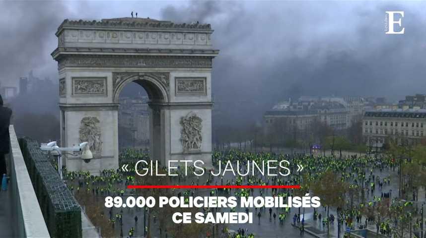 Illustration pour la vidéo La France se prépare à un samedi noir