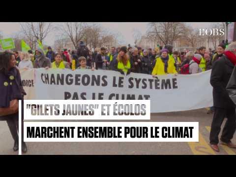 """""""Gilets jaunes"""" et écolos marchent ensemble pour le climat"""