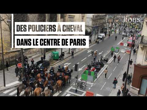 """""""Gilets jaunes"""", acte 4 : Des policiers à cheval interviennent dans le centre de Paris"""