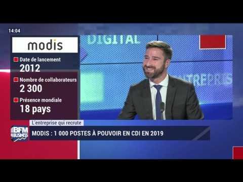 L'entreprise qui recrute: 1 000 postes à pourvoir chez Modis - 08/12