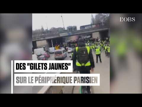 """Un groupe de """"gilets jaunes"""" tente de bloquer le périphérique Porte Maillot"""