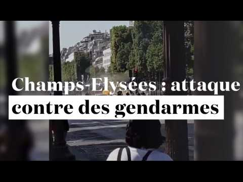 Champs-Élysées : un véhicule percute un fourgon de gendarmerie et explose
