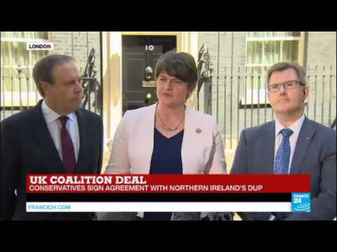 UK Coalition Deal: DUP signs agreement with May's Conservatives