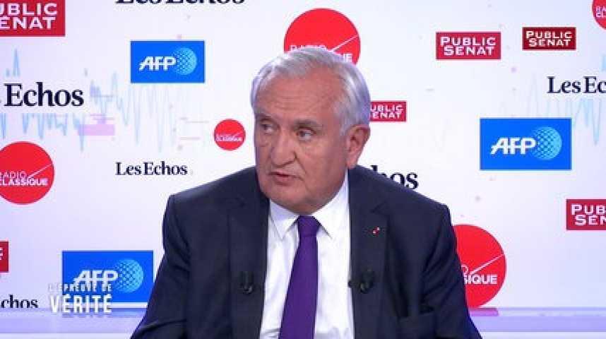 Illustration pour la vidéo « Je ne soutiendrai pas une approche qui serait une approche exclusivement droitière », prévient Jean-Pierre Raffarin