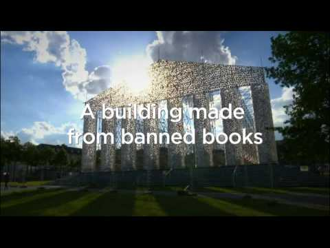 The Parthenon made from 100,000 banned books