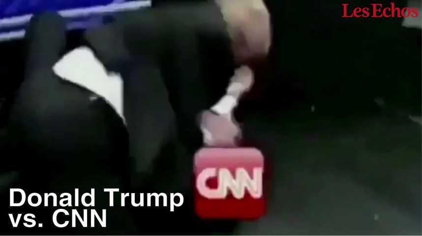 Illustration pour la vidéo Trump s'en prend (physiquement) à CNN sur son fil Twitter
