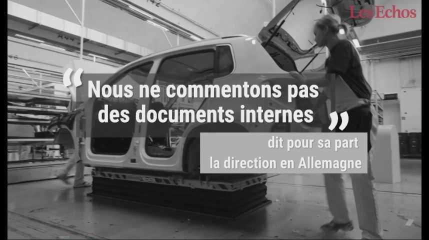 Illustration pour la vidéo Tricherie sur les chiffres de Volkswagen France