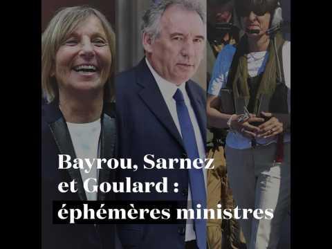 Bayrou, Sarnez et Goulard : des (très) éphémères ministres
