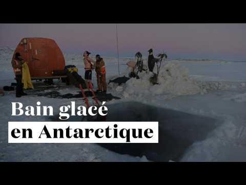 Rafraîchissant : ils s'offrent un bain glacé dans l'Antarctique pour fêter le solstice