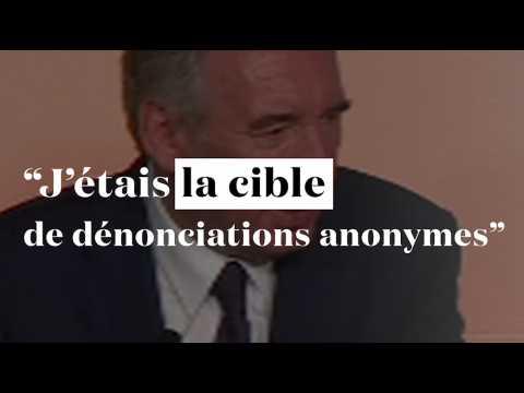 """Bayrou quitte le gouvernement : """"J'étais la cible de dénonciations anonymes"""""""