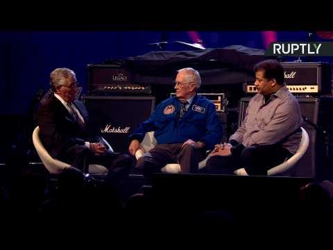 Retired NASA Scientists Harrison Schmitt and Buzz Aldrin Talk About Mars Mission