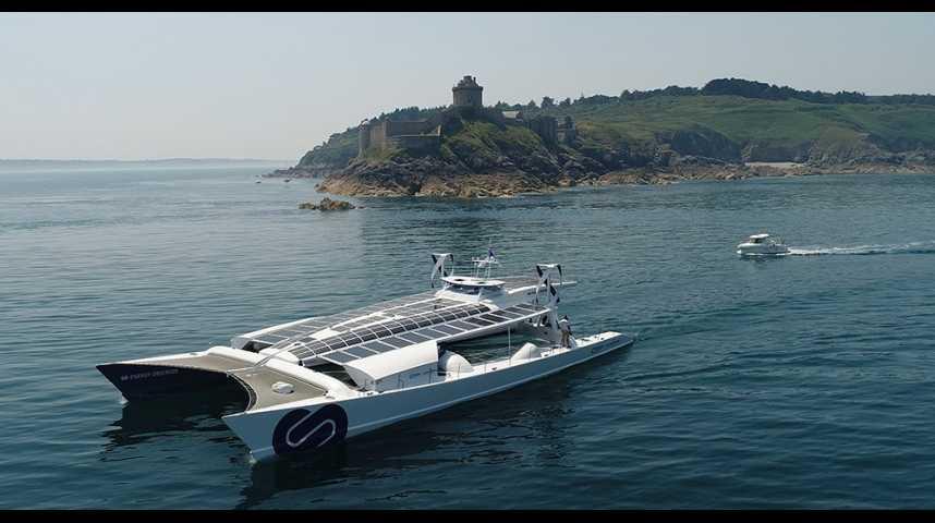 Illustration pour la vidéo Energy Observer, le « Solar Impulse des mers »
