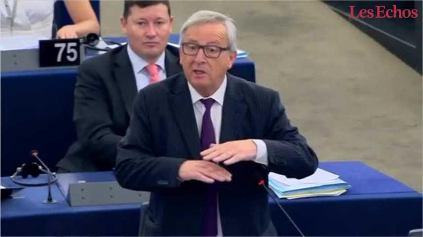 Illustration pour la vidéo Quand Jean-Claude Juncker s'en prend violemment aux eurodéputés