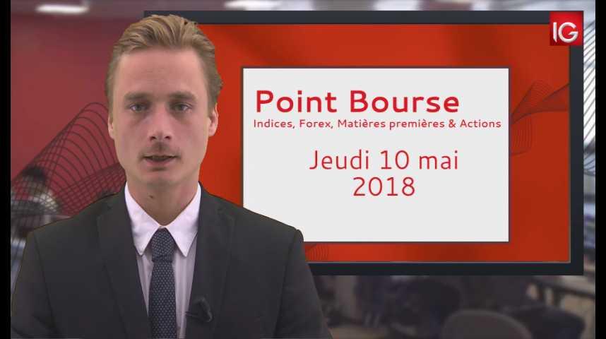 Illustration pour la vidéo Point Bourse IG du Jeudi 10 mai