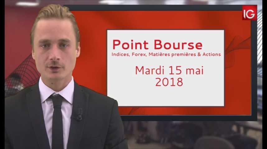 Illustration pour la vidéo Point Bourse IG du 15 05 2018